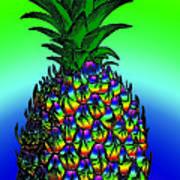 Rosh Hashanah Pineapple Art Print