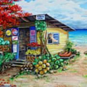 Rosies Beach Cafe Art Print