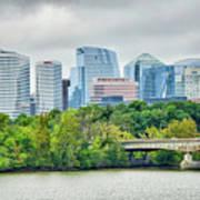 Rosslyn Distric Arlington Skyline Across River From Washington D Art Print