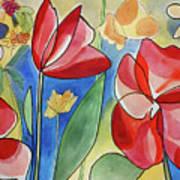 Rosso Fiori Art Print