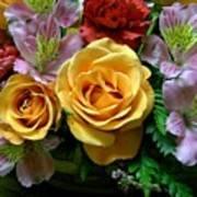 Rosy Bouquet Art Print