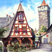 Rothenburg Memories Art Print