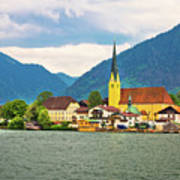 Rottach Egern On Tegernsee Architecture And Nature View Art Print