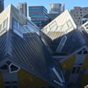 Rotterdam - The Cube Houses And Skyline Art Print