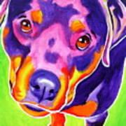 Rottweiler - Summer Puppy Love Art Print