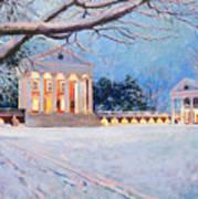 Rotunda On A Snowy Night Art Print