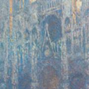 Rouen Cathedral, The Portal, Morning Light Art Print