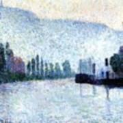 Rouen La Seine Et Les Collines Canteleu 1887 Art Print