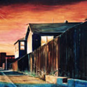 Rouge Alley Art Print