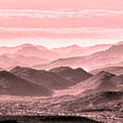 Rouge Hills Of The Tonto Art Print