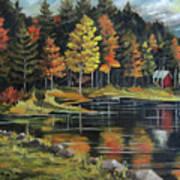 Round Pond Newbury Vermont Plein Air Art Print