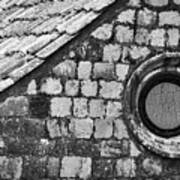 Round Window - Black And White Art Print