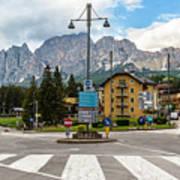 Roundabout Cortina D'ampezzo  Art Print