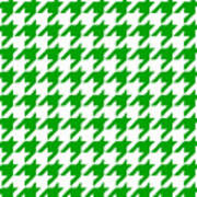 Rounded Houndstooth White Background 09-p0123 Art Print