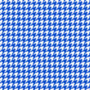 Rounded Houndstooth White Pattern 18-p0123 Art Print