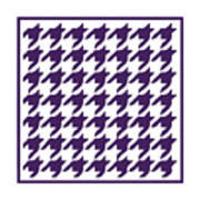 Rounded Houndstooth With Border In Purple Art Print