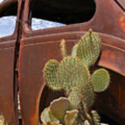 Route 66 Cactus Art Print by Mike McGlothlen