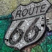 Route 66 Digital Stained Glass Art Print