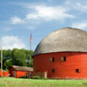 Route 66 Round Barn Art Print