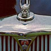 Rover Radiator And Hood Ornament Art Print