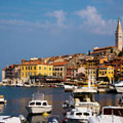 Rovinj Harbour Art Print