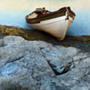 Row Boat On Shore Art Print