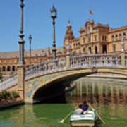 Row Boating In Seville Art Print