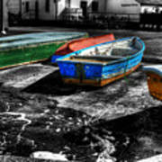 Row Boats At Mudeford Art Print