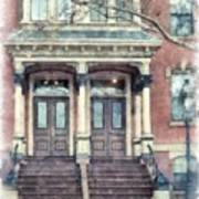 Row House Providence Rhode Island Art Print