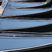 Row Of Gondolas In Venice Art Print