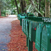 Row Of Green Mailboxes7426 Art Print