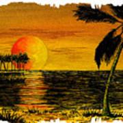 Row Of Palm Trees Art Print