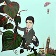 Rowan Atkinson Mr Beanstalk Art Print