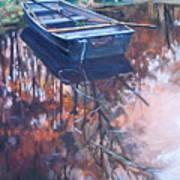 Rowboat Ashore Art Print