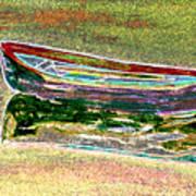 Rowboat Fluorescence 1 Art Print