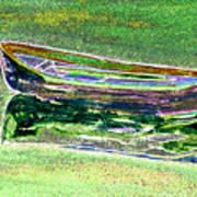 Rowboat Fluorescence 2 Art Print