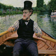 Rower In A Top Hat Art Print