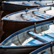 Rowing Boats Art Print