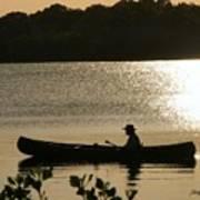 Rowing On The Lake Art Print