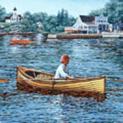 Rowing To Rockport Art Print
