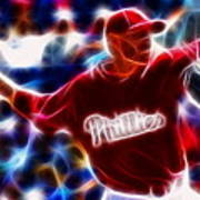 Roy Halladay Magic Baseball Art Print by Paul Van Scott