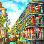 Royal Carriage - New Orleans French Quarter Art Print