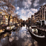 Royal Dutch Canals Art Print