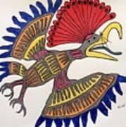 Royal Flycatcher- Mayan 2 Art Print