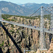 Royal Gorge Bridge In Summer Art Print
