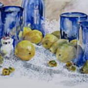 Royal Lemons Art Print