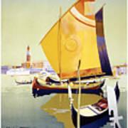 Royal Mail Atlantis Autumn Cruises Vintage Travel Poster Art Print