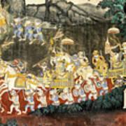 Royal Palace Ramayana 11 Art Print