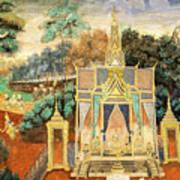 Royal Palace Ramayana 13 Art Print