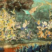 Royal Palace Ramayana 14 Art Print